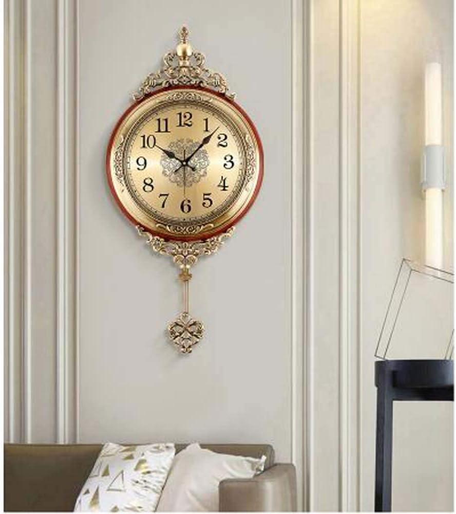 MUMUWU 掛け時計 掛け時計 壁掛け ホーム 玄関 ベッドルーム メタル振り子時計 クリスマスプレゼント