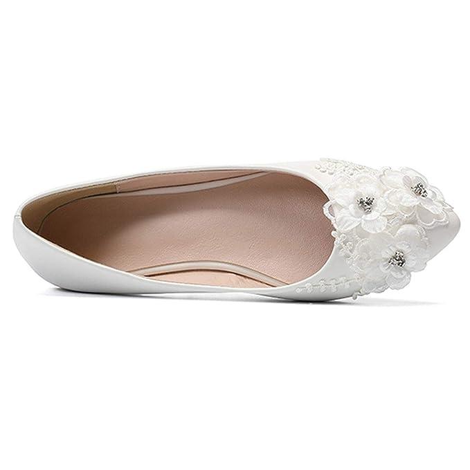 95e9a7050eb2 Amazon.com  CJJC White Wedding Shoes for Women