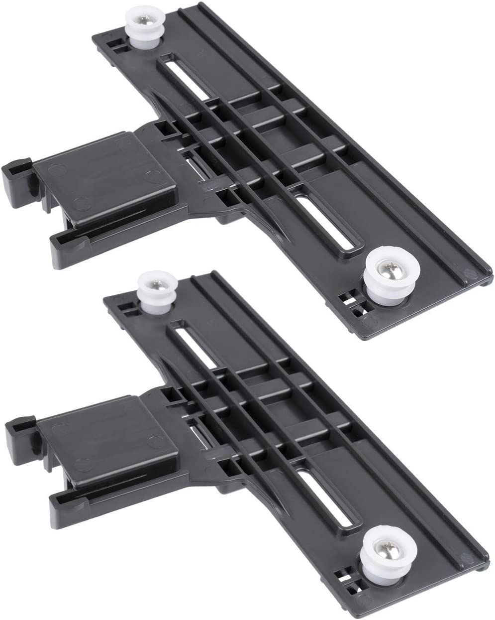 Hosom Dishwasher Top Rack Parts Compatible with Whirlpool,Kenmore Elite Dishwasher Top Rack Adjuster Kit,W10350376 Replacement for Kitchenaid Dishwasher Upper Rack Parts (Set of 2)