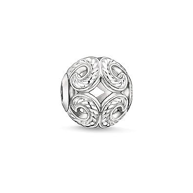 Thomas Sabo Women Men-Bead Wave Karma Beads 925 Sterling Silver K0017-001-12 jI3ZukcJf