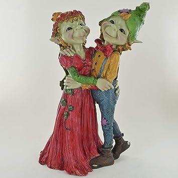 Prezents Com Pixie Couple De Mariage Ornement Green Garden