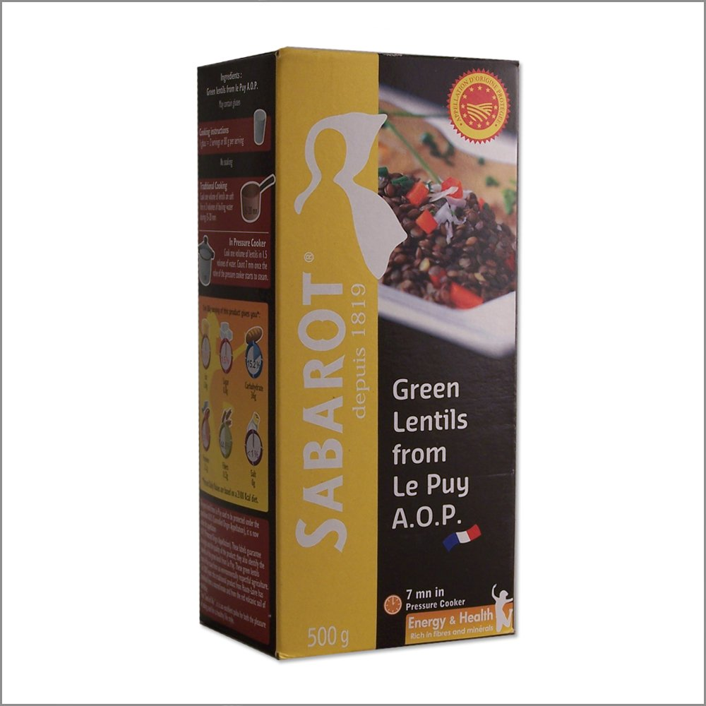 French Green Lentils from Le Puy - AOP - 17.6oz - (Pack of 2)