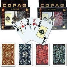 Copag Bridge Size Jumbo Index Gold Line Script and Aldrava Cards