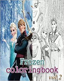 Frozen Coloring Books Book VoL2 Stress Relieving Amazoncouk Alexa Cosmo