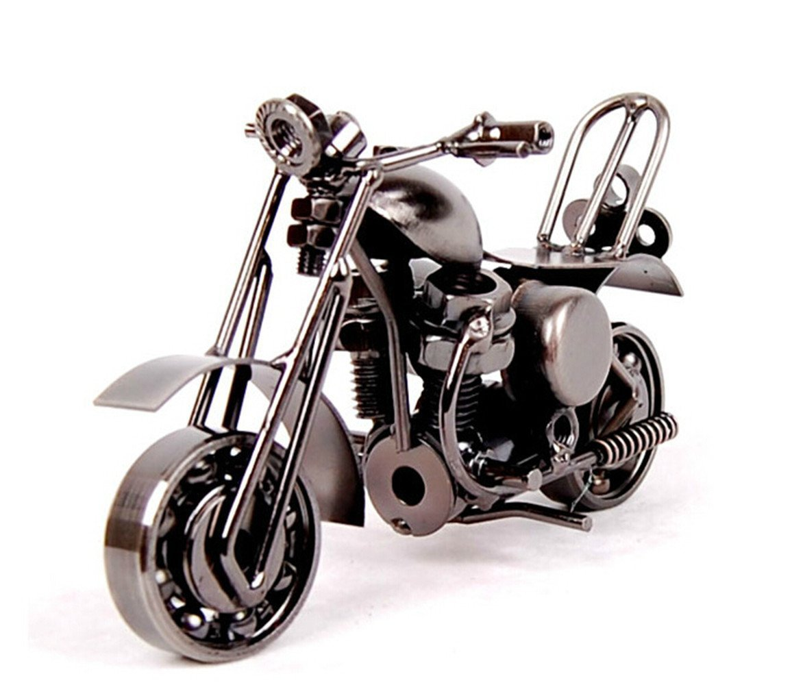 MYTANGCreative Office Desktop Accessories The motorcycle loves Metal Motorcycle Model Artwork (m36-balck)