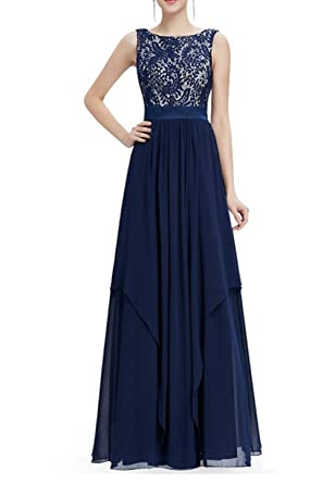8b8e16cc8ae2 BestWahl Ladies Long Chiffon Lace Evening Formal Party Ball Gown Prom  Bridesmaid Dress Chiffon Lace Evening