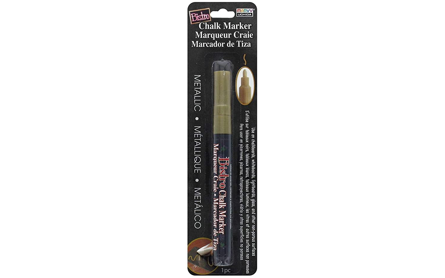 Bistro Chalk Marker Fine Point-Gold