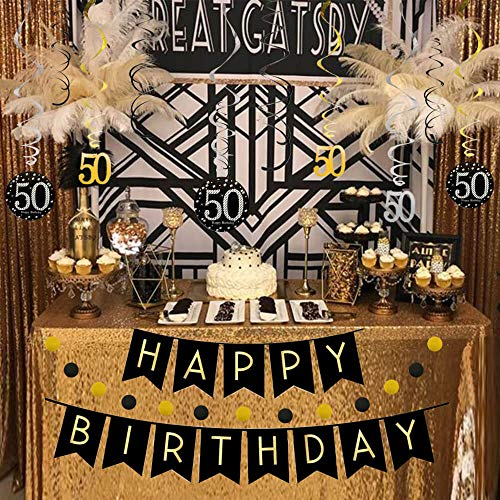 Amazon 50th Birthday Decorations Kit For Men Women 50 Years Old Party NO Assembly Required
