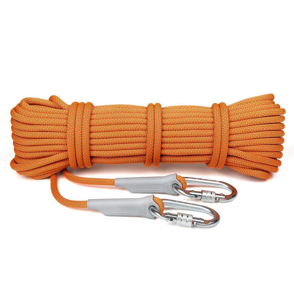 12mm の登山ロープ、家の火の緊急の脱出ロープのための多機能コードの安全ロープのハイキングの洞窟キャンプの救助の探検,100M 100M  B07Q7MZQ26