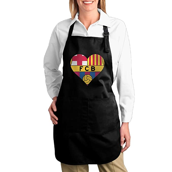 Ajustable FCB Love cocina Delantal babero Bistro negro: Amazon.es ...