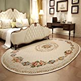Rug WAN SAN QIAN- Economy Nordic Living Room Oval Carpet Country Style Home Carpet Bedside Blanket Coral Villi Carpet (Size : 200x290cm)