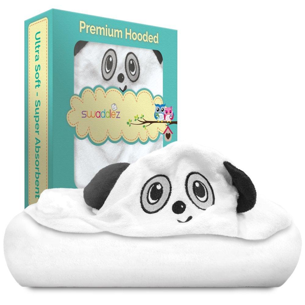 Hooded Baby Towel Set - Large Bath Towels for Growing Toddler Kids Boys Girls Swaddlez