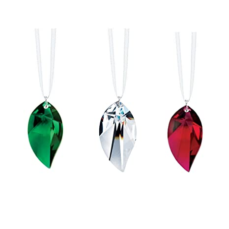 Amazon.com   Swarovski Strass Crystal Leaf Prisms 3 Pcs Crystal Ornaments  SunCatcher Rainbow Maker   Garden   Outdoor 1cc2e5b57e