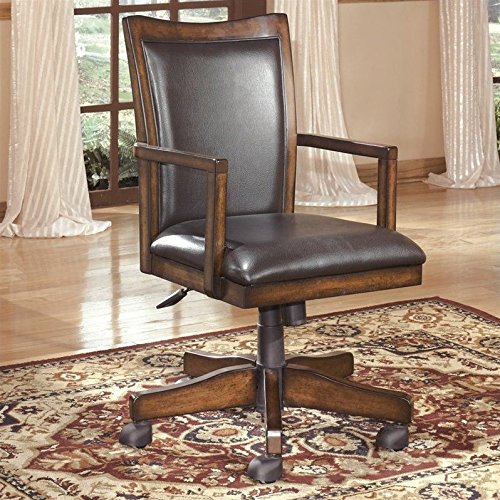 Signature Design by Ashley H527-01A Hamlyn Collection Home Office Desk Chair, Medium Brown - Hamlyn Collection