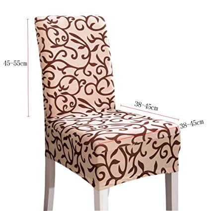 Tomtopp Elastic Dinner Chair Covers for Home Hotel (Champagne)