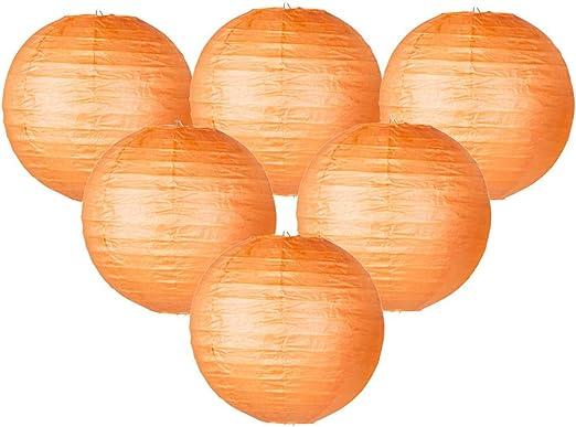 Vert 6Pi/èces Lanterne en Papier Ronde Lampions en Papier Boule pour D/écoration Mariage Maison Garden Party D/écoration et int/érieure Patio Caf/é IMMEK Lampion Papier