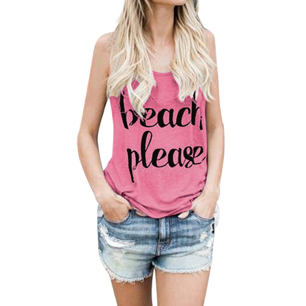Summer Tank Tops for Women's Print Letter Crop Vest Ladies Sleeveless Backless Blouse T-Shirt Yamally