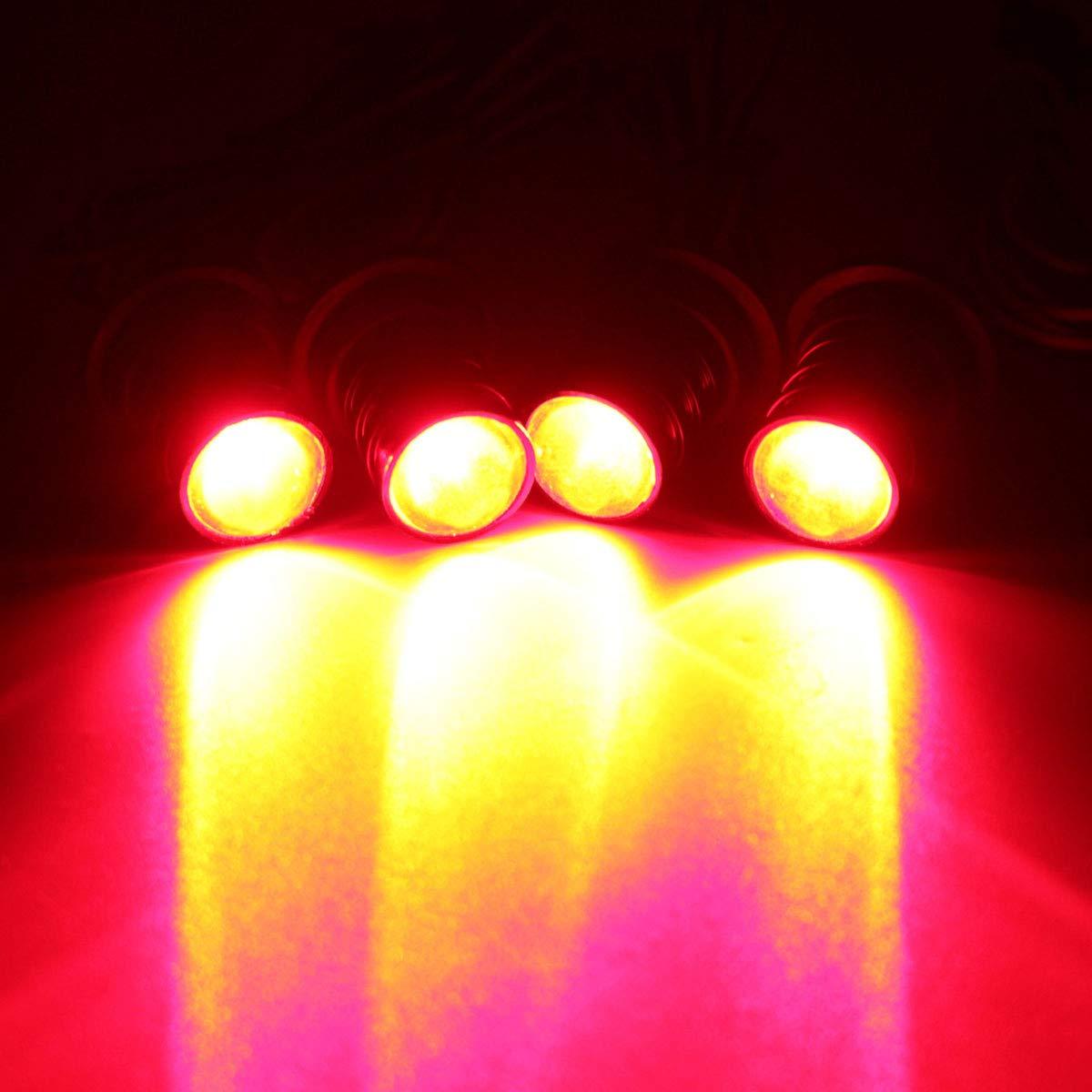 Fincos Universal Remote Control Car 4 LED Strobe Flashing Hazard Emergency Warning Light - (Color: Blue)