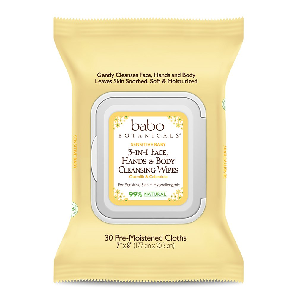 Babo Botanicals 3-in-1 Calming Wipes, French Lavender & Meadowsweet, 30 Count 899248002088