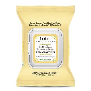Babo Botanicals 3-in-1 Moisturizing Sensitive Baby Wipes, Oatmilk & Calendula, 30 Count