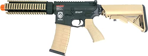 g g armament gr4 cqb-s mini aeg airsoft rifle black tan new Airsoft Gun