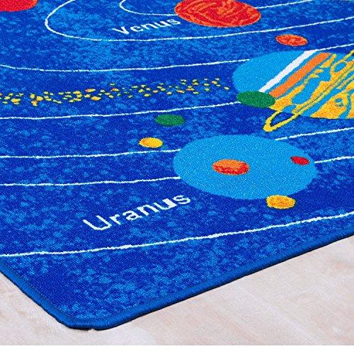 8x10 Kids Boys Children Toddler Playroom Rug Nursery Room Rug Bedroom Rug Fun Colorful ( Solar System ) by LA Rug Linens (Image #1)