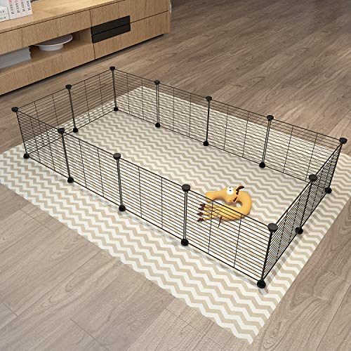 Tespo Pet Playpen, Small Animal Cage Indoor Portable Metal