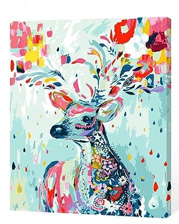Kxcfcys Diy ölgemälde Malen Nach Zahlen Neuerscheinungen Neuheiten Diy Gemälde Durch Zahlen Malen Nach Zahlen Kits Digitales ölgemälde Deer