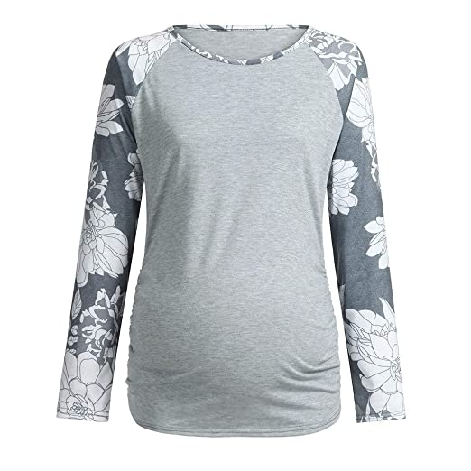5191ee021ef76 2019 Maternity Tops, Women Maternity Long Sleeve Floral Print Tops Pregnant  T-Shirt Clothes at Amazon Women's Clothing store: