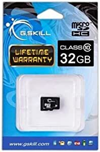 G.Skill Class 6 MicroSDHC Flash Card with SD Adapter 32 GB