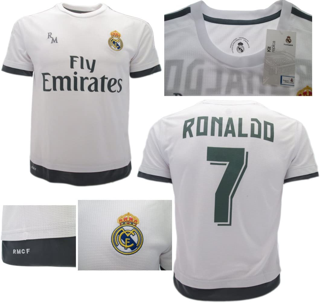 Real Madrid Camiseta Jersey Futbol Ronaldo 7 Replica Oficial (6 años): Amazon.es: Deportes y aire libre