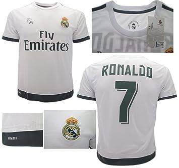 Camiseta Jersey Futbol Real Madrid Ronaldo 7 Replica Oficial (6 años)