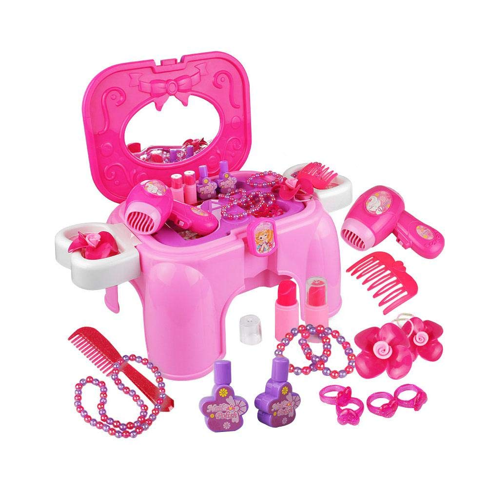Children's Play Toy - Princess Dressing Table Toy Set Makeup Box Dressing Table Toy by HUVE (Image #6)