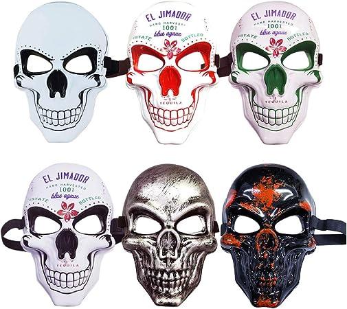 Dowoa Máscara de Calavera de Terror, máscara de Fantasma de Cara Completa de Horror de Halloween Máscara de Horror Divertida para Disfraces de Fiesta de Disfraces Accesorios de Fiesta: Amazon.es: Hogar