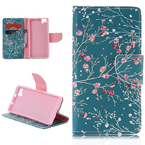 Funda para BQ Aquaris M5, SMART LEGEND Funda de PU cuero resistente, Ultra Slim PU Cuero Folding Stand Flip Funda Carcasa Caso,Diseño de Mariposa y flor, Leather Case Wallet Protector Card Holders, Cu Flores de Colores