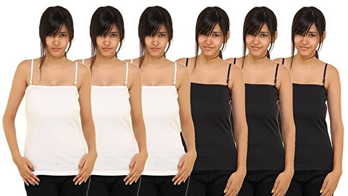 PACK OF 6 -ADJUSTABLE STRAP SPAGHETTI TOP FROM BOOSAH Women's Sleep & Lounge Wear at amazon