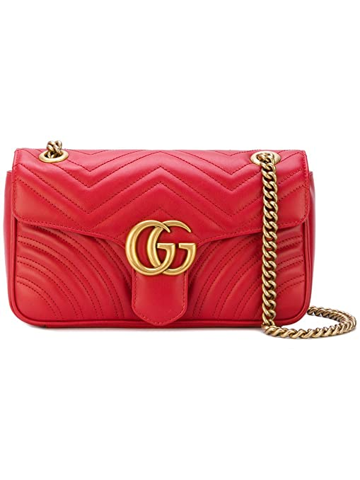 c540fe065d3 Gucci Women s 443497DTDID6433 Red Leather Shoulder Bag  Amazon.ca  Sports    Outdoors