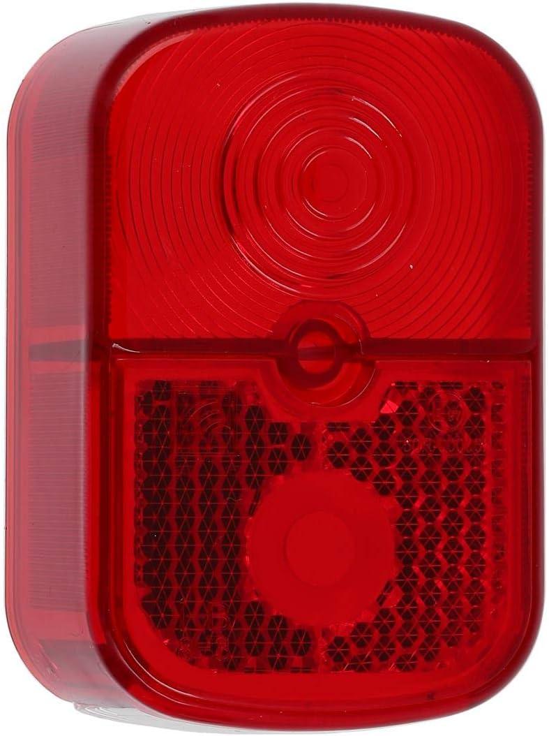 FEZ R/ücklicht rot f/ür Simson KR51//1 Schwalbe eckig mit Sockel silber
