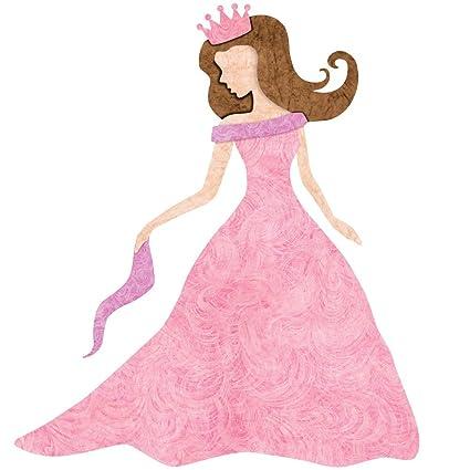 7155d534687 Amazon.com  Princess Decal Sticker for Princess Room Decor (Black Hair Dark  Skin)  Home   Kitchen