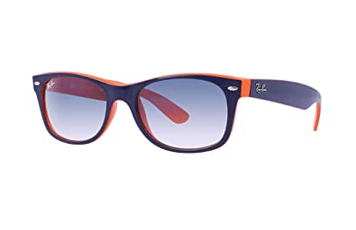 89280ca5f Image Unavailable. Image not available for. Color: Ray Ban RB2132 789/3F 55  Blue-Orange New Wayfarer Sunglasses ...