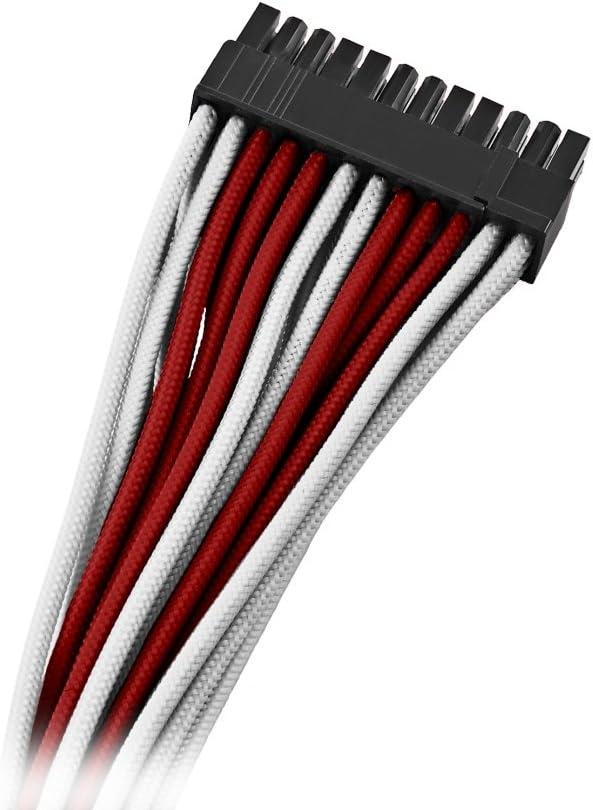 Black Label CableMod C-Series ModMesh Cable Kit for Corsair RMi//RMX//RM - White//Blue cm-CSR-FKIT-NKWB-R