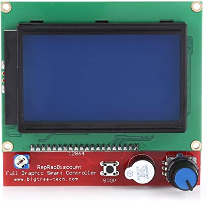 RAMPS 1.4 Escudo Mega + 12864 Controlador Gráfico de Pantalla LCD + MEGA2560 R3 Tablero + 5pcs A4988 Controlador de Motor con Disipador de Calor para el kit de Impresora 3D: Amazon.es: Coche y moto