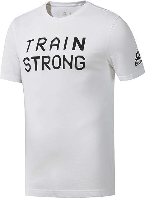 Reebok GS Train Strong tee Camiseta, Hombre, Blanco, S: Amazon.es: Deportes y aire libre