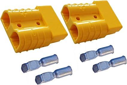 Batterie Stecker 175a 16 Mm2 Gelb Set Steckverbinder Für Gabelstapler Kabel Beleuchtung