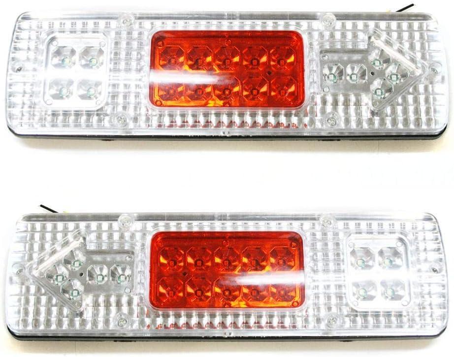 Boloromo 3800992160723 Lot de 2 feux de brouillard arri/ère LED pour camion remorque camion camping-car