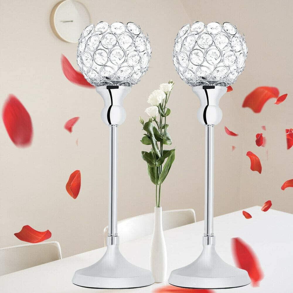 2 in 1 Glass Tea Light Stick Candle Holder Glass Party Decor Wedding