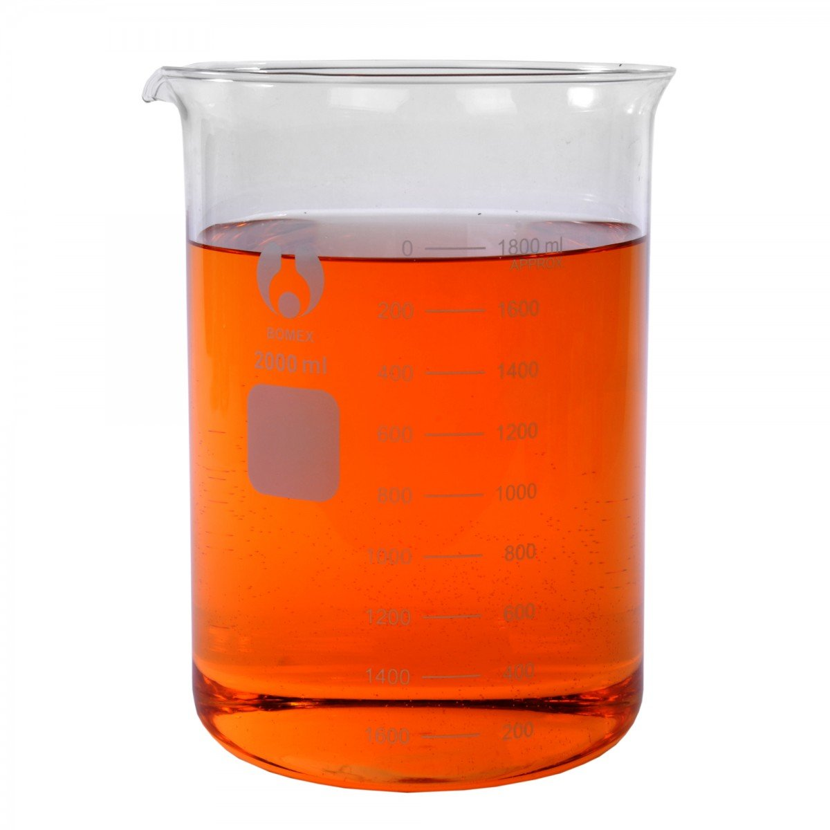 2000mL Bomex Glass Griffin Beakers, Shelf Pack of 4