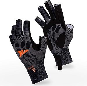 KastKing Sol Armis Sun Gloves UPF50+ Fishing Gloves UV Protection Gloves Sun Protection Gloves Men Women for Outdoor, Kayaking, Rowing