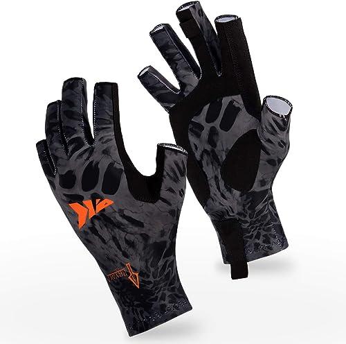 Breathable UV Protection Men/Women Sun Blocking Fingerless Fishing Gloves [KastKing] Picture