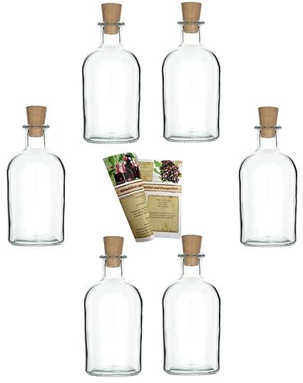 gouveo 24 botellas vacías de 250 ml con corchos, botellas de vidrio vacías, botellas